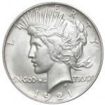 Peace Silver Dollar (1921-28, 1934-35, VG)
