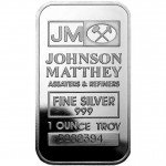 1 oz Johnson Matthey Silver Bar (New)