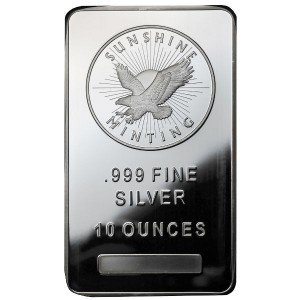 10 oz Sunshine Silver Bar (New)